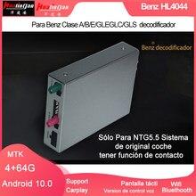 Hualingan por benz (hl4044 benz decodificador) a/b/e/gle/glc/gls android 10.0 ntg 5.5 sistema de contato carplay