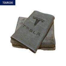 2 pçs para tesla model 3 s x y toalha de limpeza do carro forte capacidade absorção de água pano de limpeza de vidro