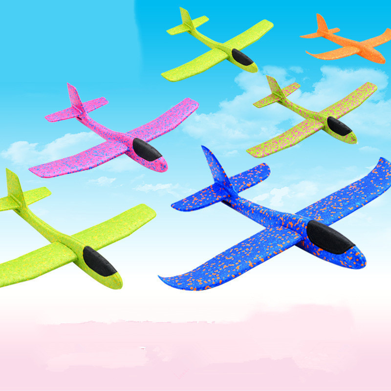 48cm Big Hand Throw Foam Planes DIY Kids Toys Flying Glider Aeroplane Model Party Fillers Flying Glider Plane Toys For Kids Game