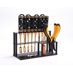 Image 5 - Инструмент для отвертки из алюминиевого сплава, кронштейн, ножницы, плоскогубцы, держатель для хранения ножей, инструмент, розетка для модели RC DIY
