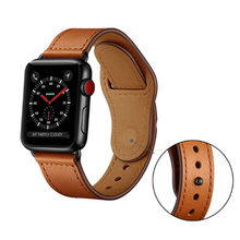 цена на Hot Sell Leather Watchband for Apple Watch Band Series 3/2/1 Sport Bracelet 42mm 38mm correa Strap For iwatch 4 Bands 40mm 44mm