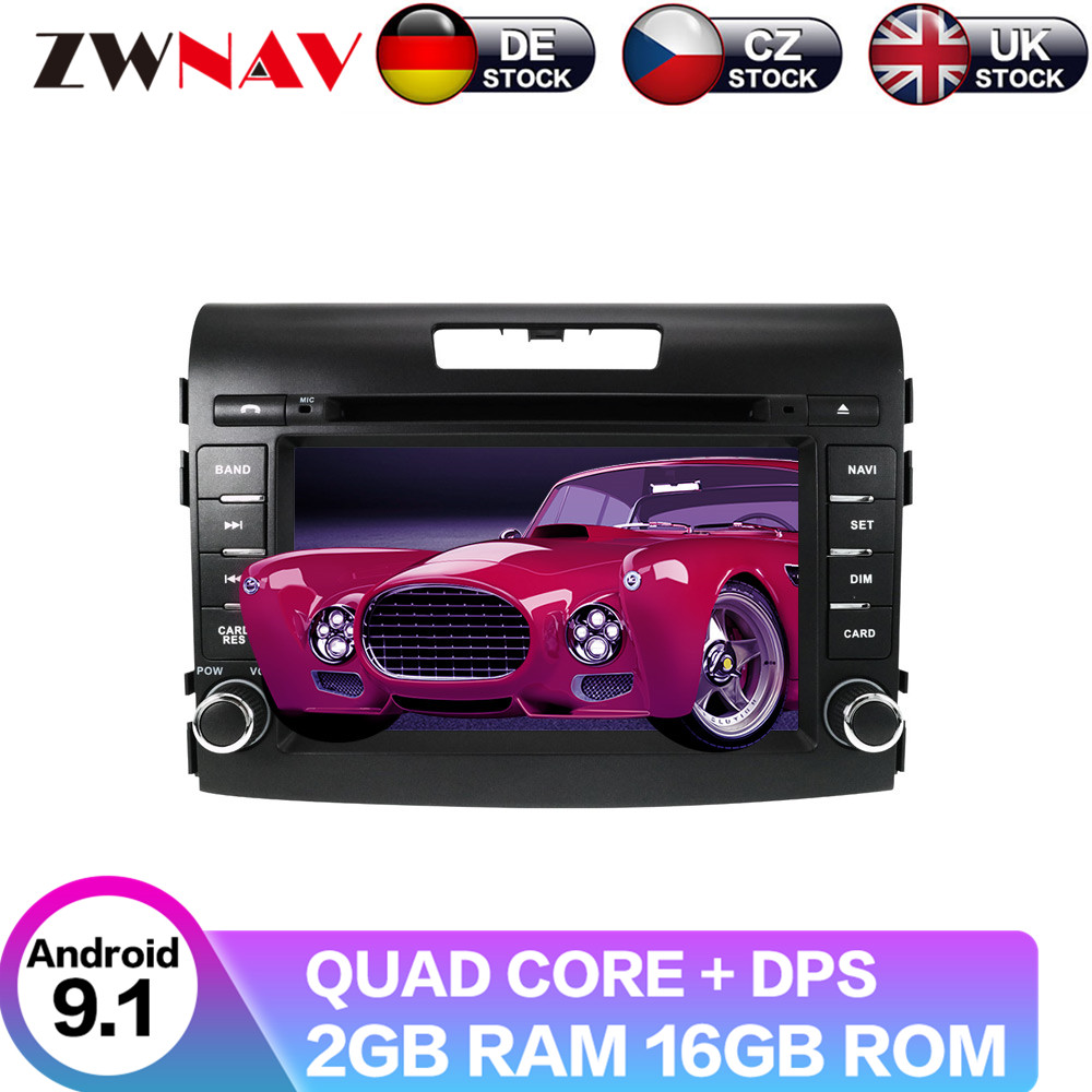 Android 9 4+64G With DSP For Honda CRV 2012-2016 Car No DVD video player Multimedia GPS navigation Radio Tape image