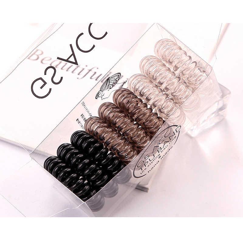 Новый 4/9 шт./компл. для девочек и женщин, телефонное кольцо резинки для волос с коробкой для маленьких девочек резинка для волос резинки для волос аксессуары яркие Цвета