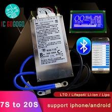 חכם 7S ~ 20S נמלה Lifepo4 ליתיום Lipo LTO הגנת סוללה לוח BMS 400A 300A 100A 80A Bluetooth אפליקציה 10S 13S 14S 16S איזון