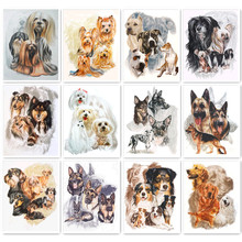 5D DIY diamond painting painted cartoon animal dog mosaic embroidery cross stitch crafts Decoration