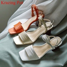 Krazing pot brand fashion peep toe gladiator summer shoes hi
