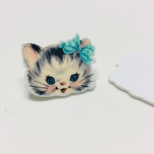 10 шт./партия плоская полимерная Каваи кошка DIY полимерные кабошоны аксессуары для телефона diy банты для волос