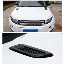 Air outlet decoration For Land Rover Discovery Sport LR4 For Range Rover Evoque Vogue Hood Air Vent Outlet Wing Trim Stickers car roof light a c volume knobs rear air outlet ring trim for land rover discovery 4 range rover sport freelander 2 accessories