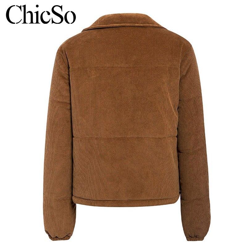 MissyChilli Casual down parka jacket women winter coat Female khaki streetwear short coat Snow wear warm corduroy outerwear new 12