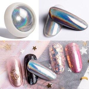 Image 5 - 1Box 0.2g Pigment kameleon Duochrome lustro w proszku chromowany Pigment Galaxy Glitter kolor kurzu paznokci (czarna podstawa kolor potrzebny)
