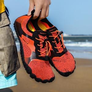 Image 5 - Unisex büyük boy su ayakkabısı Aqua plaj ayakkabısı hızlı kuru yukarı çıplak ayakkabı açık ayakkabı yüzme spor dalış ayakkabı