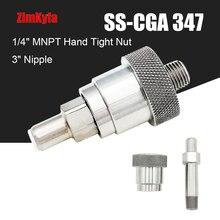 SCBAดับเพลิงSS CGA 347ชุดมือแน่นNutและหัวนม