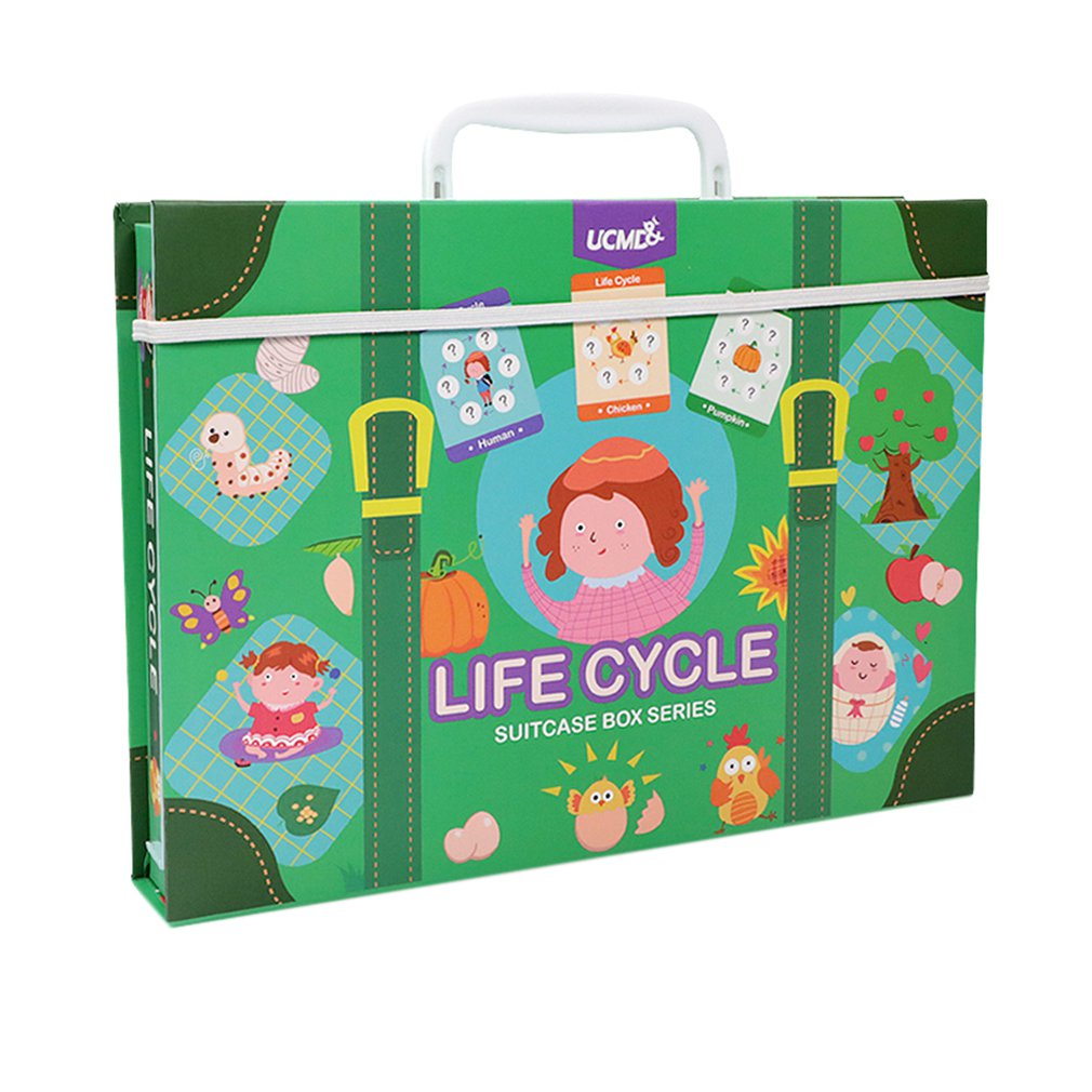 Magnetic Puzzle Leaning Life Cycle Animal Human Growth Puzzles Educational Toy Early Childhood Education Kids Toys