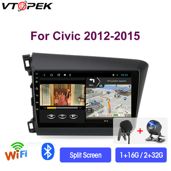 Vtopek 9 2+32G 2din Android 9.0 T3L Car Radio Multimidia Video Player Navigation GPS For HONDA CIVIC 2012-2015 Head Unit 2 Din