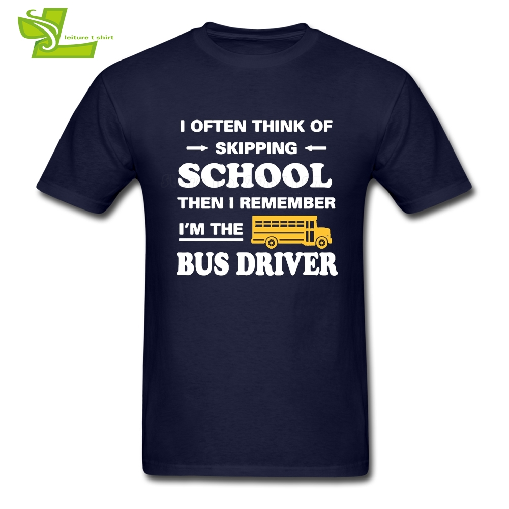 Bus Driver Man T Shirt Fashion Customized Comfortable Tops Men Short Sleeve 100% Cotton Tshirts Dad Latest Simple Clothes