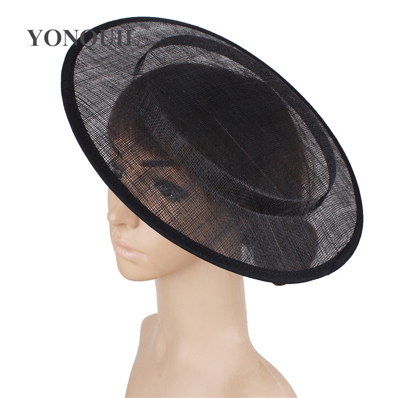 Nice Sinamay 30 CM Size Fascinator Base Round Hat Fascinators For Women Wedding Party Bride Headwear Brdial DIY Hair Accessories
