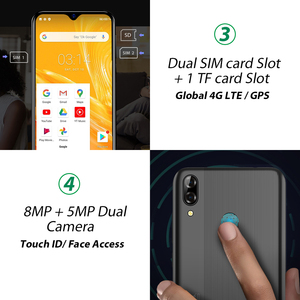 """Image 3 - Blackview A60 Plus 4G Lte 4080Mah Smartphone 6.088 """"Waterdrop Screen Mobiele Telefoon 4Gb Ram Android 10 8MP + 5MP Camera Cellphone"""