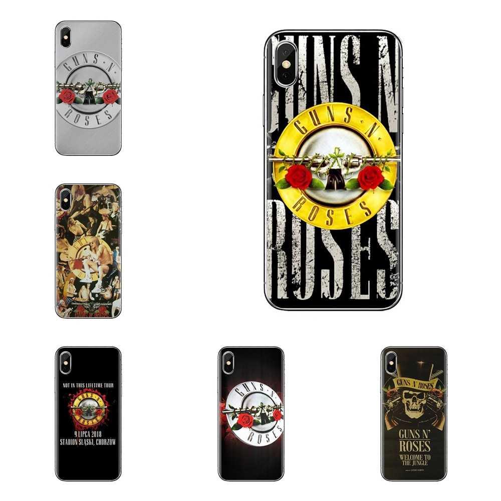 Para Samsung Galaxy S2 S3 S4 S5 MINI S6 S7 borda S8 S9 Plus Nota 2 3 4 5 8 fundas Coque Capa de Silicone Saco Banco Do guns n roses Música