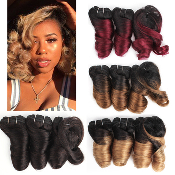 MOGUL HAIR Ombre Honey Blonde Romance Curl Short Style Remy Cheap Human Hair Natural Color 155g/set Brazilian Loose Wave - discount item  41% OFF Beauty Supply