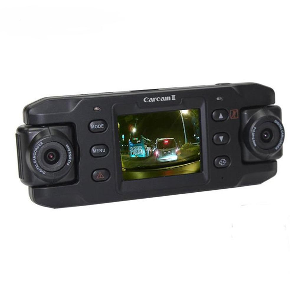Portable Dual Lens Dash Cam Car DVR with GPS Navigator Car Recorder Camcorder Full HD 1080P Auto Registrator Dash Cam DVRs
