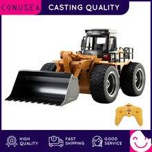 Huina 1:18 rc caminhão bulldozer caterpillar liga trator modelo de engenharia carros escavadeira 2.4g carro controlado por rádio brinquedos para meninos