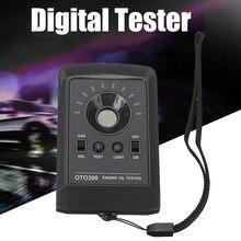 Testador digital de óleo de motor para carro, ferramenta de diagnóstico automotivo com detector de qualidade de óleo de motor