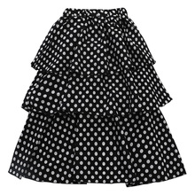 New Baby Girls Cake Tutu Skirt Summer Black Ruffle Polka Dot Fluffy Skirts Children Clothes For Girl Kids Pleated Pettiskirt valentine black ruffle rainbow hearts girl pettitop black petal pettiskirt nb 8y mapsa0121