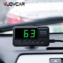 Universal hud gps velocímetro cabeça up display de velocidade do carro com excesso de velocidade alarme mph km/h para todos os veículos a100 atualizar