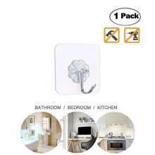 Strong Suction Cup Self Hooks Stick On Sticky Wall Hangers Kitchen Bathroom Multi Use Adhesive Hook Door Traceless Organizer(China)