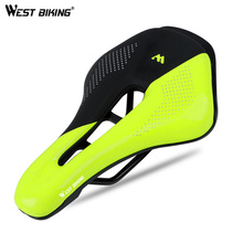 цена на WEST BIKING Bicycle Saddle Bike Seat Wear-resistant PU Breathable Saddle Bike Road Bicycle Part Cycling Saddle Bike Seat