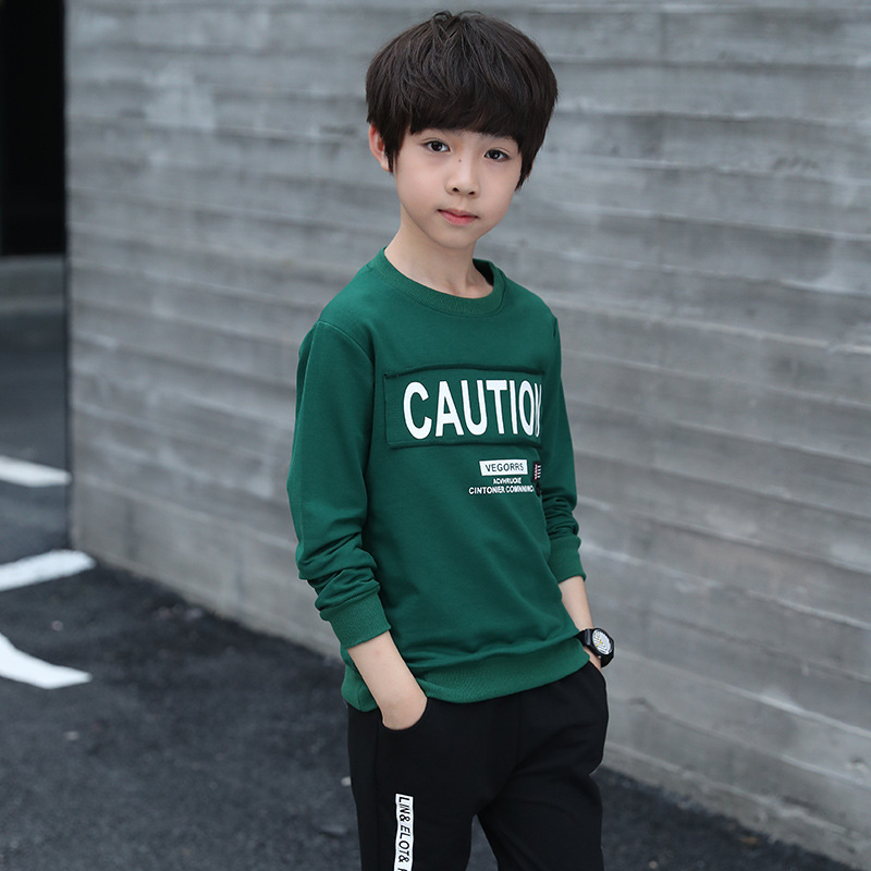 TUONXYE Fashion Children Clothes Set For Boys Cotton Long Sleeve Sports Tracksuit Kids Tops+Pants Outfits Teens Clothing Suits 4