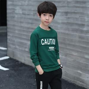 Image 4 - Saileroad Mode Kinderen Kleding Set Voor Jongens Katoen Met Lange Mouwen Sport Trainingspak Kids Tops + Broek Outfits Tieners Kleding Past