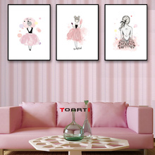 Watercolor Pink Fairy Prints Posters Beautiful Girls Canvas Painting On The Wall For Living Room Bedroom Home Decor Modern Art