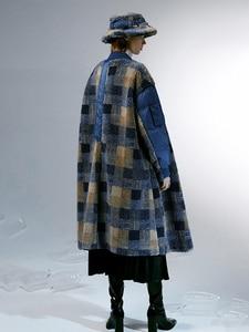 Image 3 - IRINACH112 2020 Winter New Collection oversize plaid berber fleece wool coat