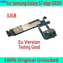 Voor Samsung Galaxy S7 Rand G935F Moederbord Met Android Systeem, Original Unlocked Voor Samsung S7 G935F Moederbord, gratis Verzending
