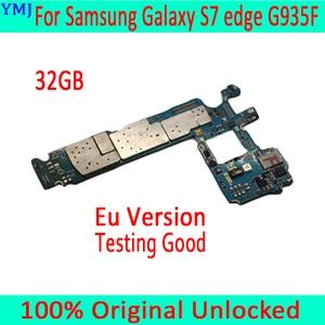 Image 1 - Voor Samsung Galaxy S7 Rand G935F Moederbord Met Android Systeem, Original Unlocked Voor Samsung S7 G935F Moederbord, gratis Verzending