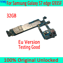 for Samsung Galaxy S7 edge G935F Motherboard with Android System,Original unlocked for Samsung S7 G935F Mainboard,Free Shipping