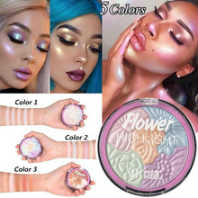 ZHENDUO 5 Colors Face Highlighter Palette Eyeshadow blusher Shimmer Glitter highlighter Powder  makeup blush