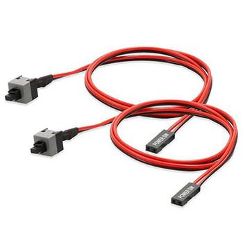 5 sztuk 50cm 2 Pin SW moc PC kabel On Off przycisk obudowa komputera Restart przełącznik drutu tanie i dobre opinie HUXUAN CN (pochodzenie) Kabel zasilający NONE