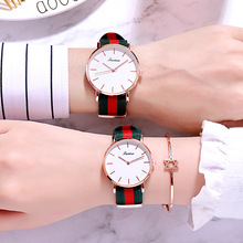 Women's watch trend student simple canvas nylon student men and women couple watch boy girl universal new England watch