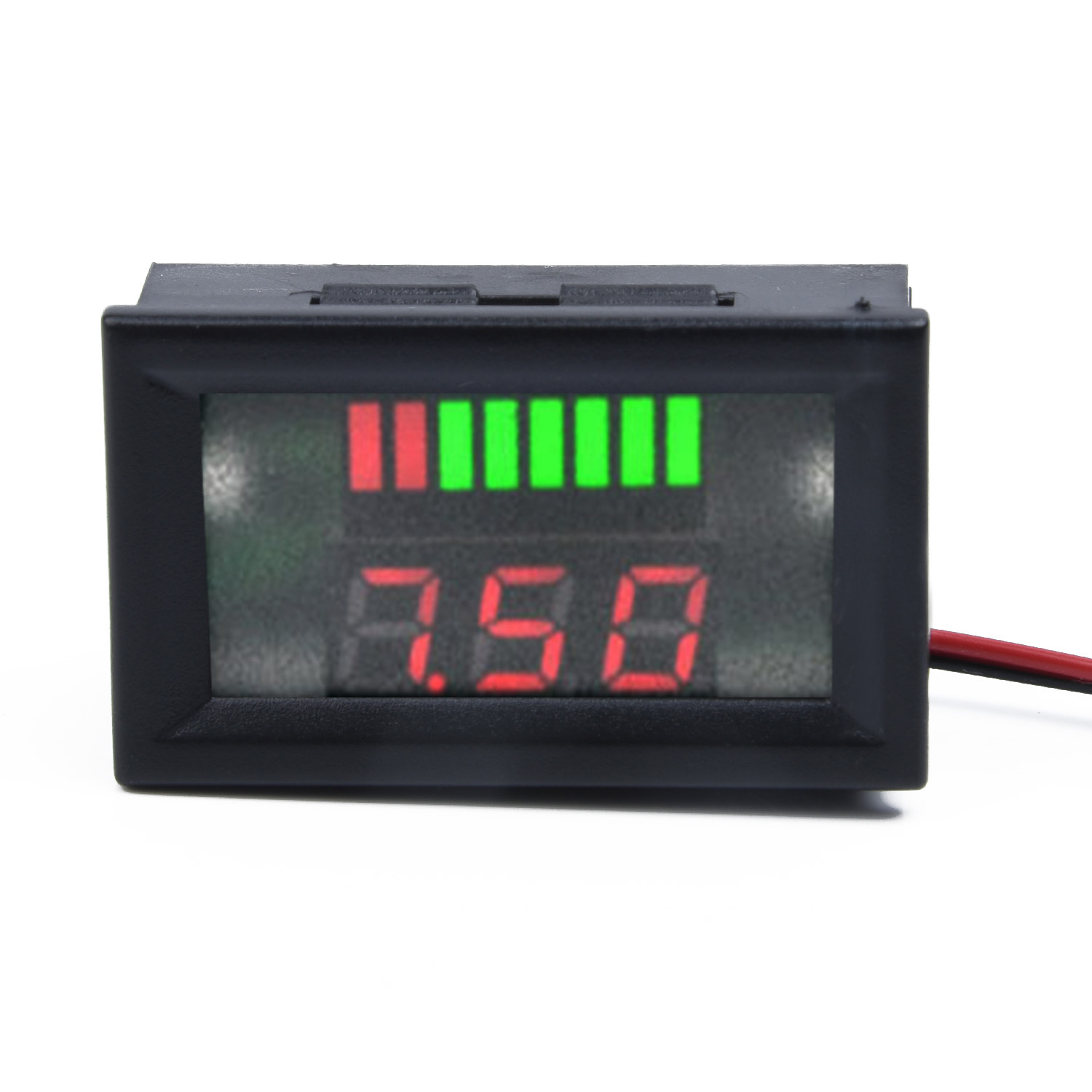 Mini 12v Led Waterproof Display Voltmeter Motorcycle Voltage Gauge Panel Meter