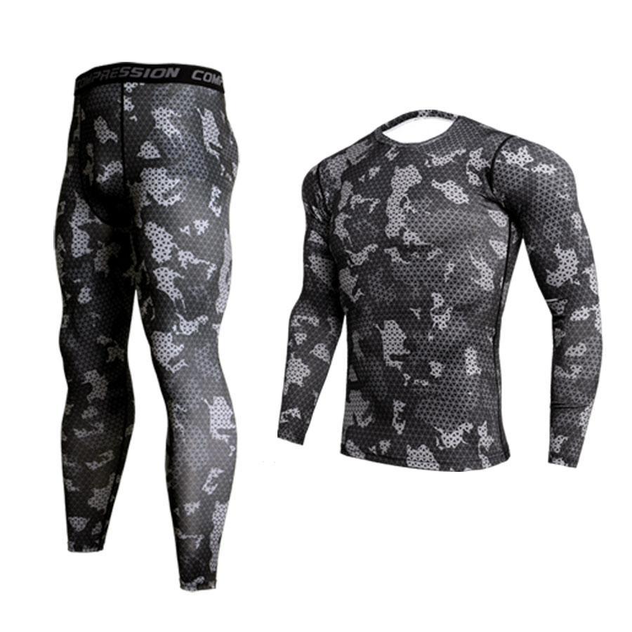 GEJINIDI100% Cotton Winter Men's O-Neck Warm Long Johns Set Ultra-Soft Thermal Underwear Termica Undershirt Merino Pants Pajama
