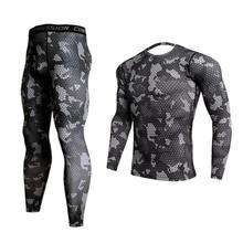 GEJINIDI100% Cotton Winter Men's O-Neck Warm Long Johns Set