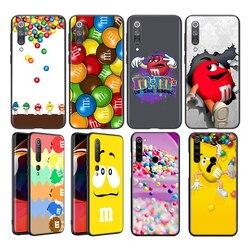 Silicone Cover Cute M&M's Chocolate For Xiaomi Mi Note 10T 10 9 9T SE 8 A3 CC9E Lite Pro Ultra 5G Phone Case