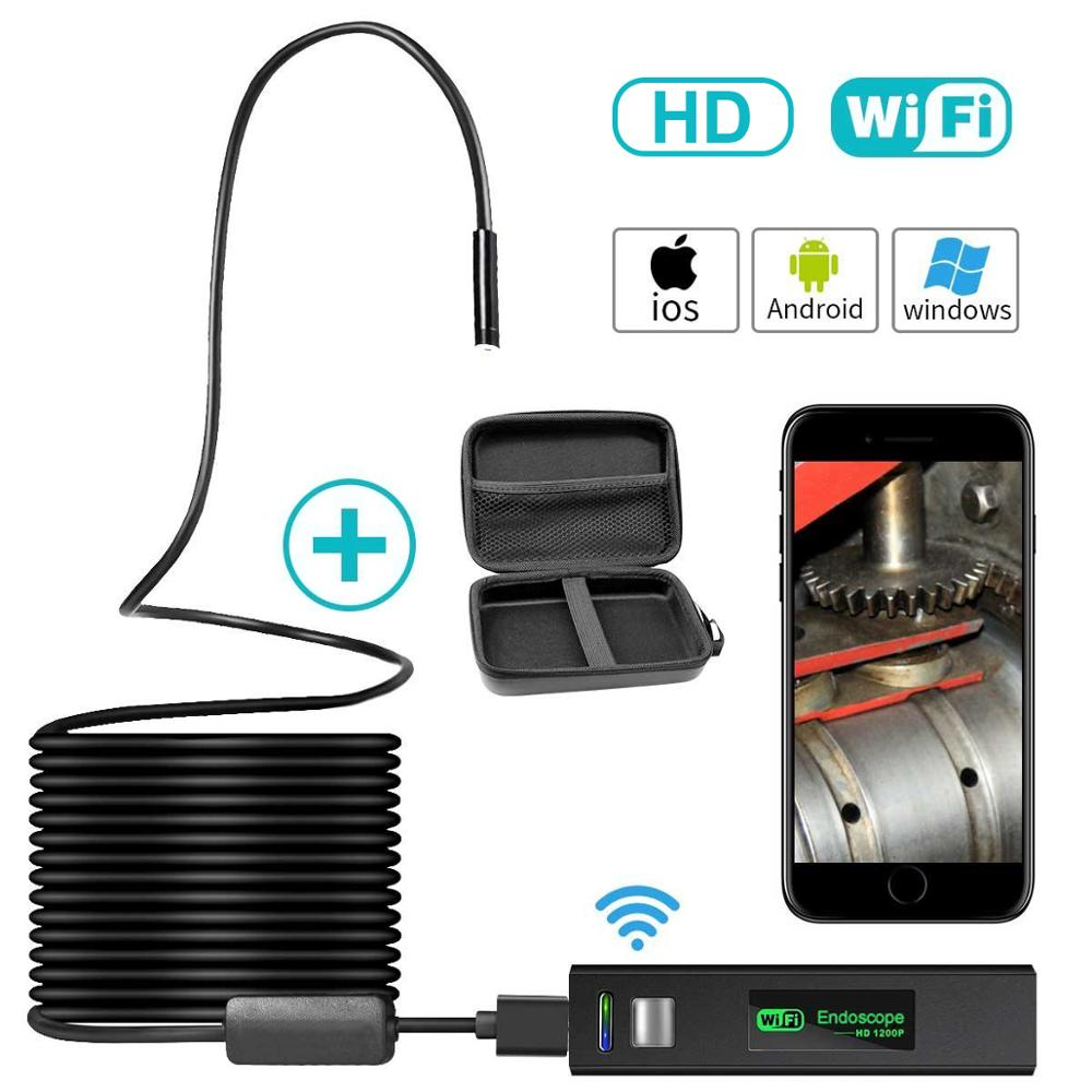 <font><b>1200P</b></font> <font><b>10M</b></font> HD WiFi <font><b>Endoscope</b></font> cmos Borescope Inspection Camera image