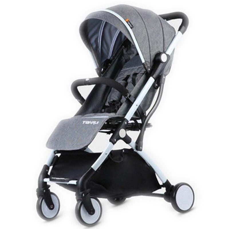 Criança carrinho de bebê da menina do menino carrinho de viagem leve portátil sistema rodas borracha pram carrinhos para recém-nascidos