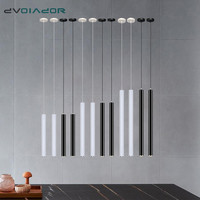 Luzes pingente led tubo longo luminária loja barra ilha sala de jantar decoração cilindro tubo pendurar lâmpada iluminação da cozinha|Luzes de pendentes| |  -