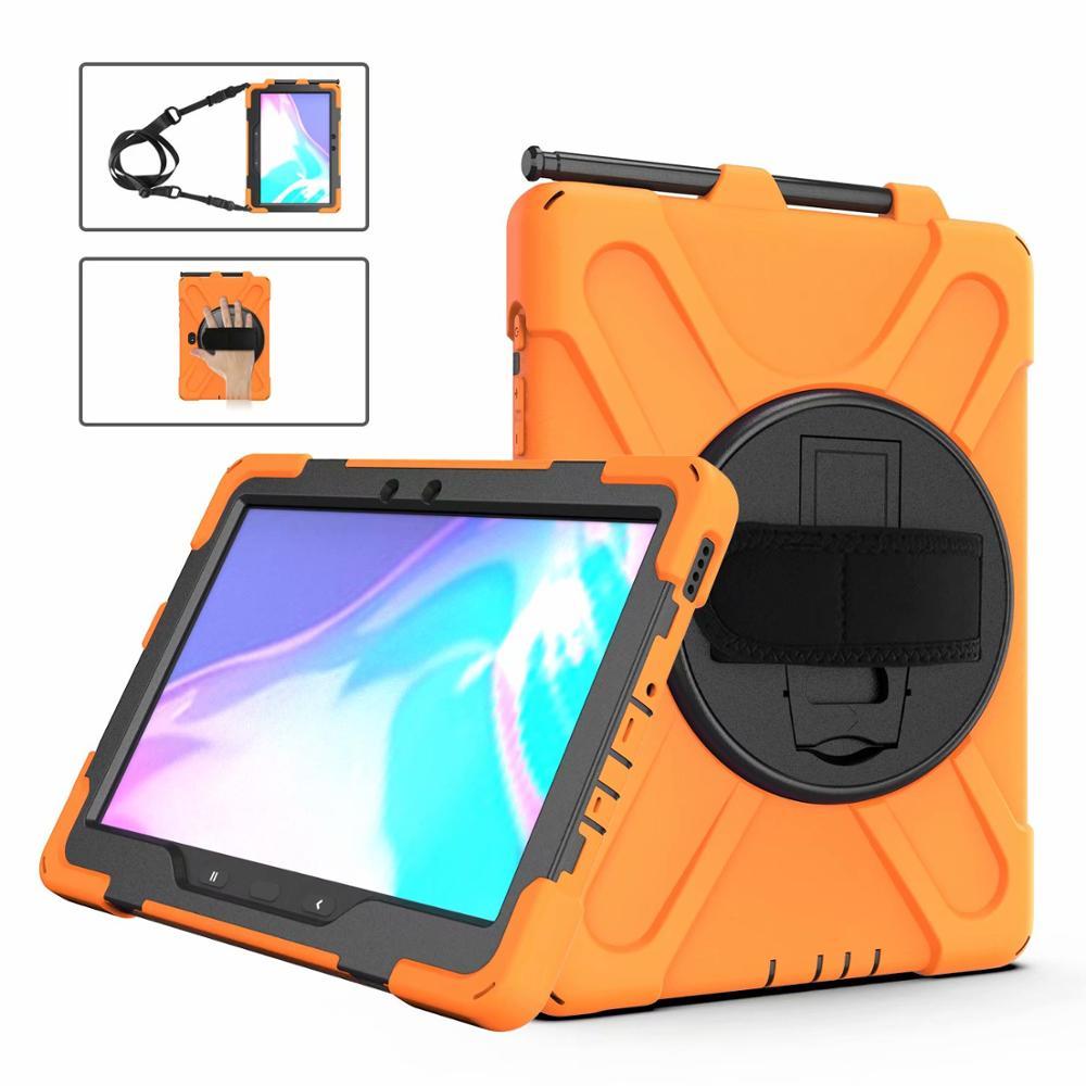 Coque de téléphone Samsung Galaxy Tab Pro 10.1, étui T547, robuste, avec bandoulière, antichoc, support pour enfant