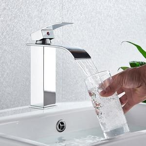 Image 4 - Robinets de mélangeur de lavabo montés sur le pont, mitigeur dévier de salle de bains robinets deau chaude et froide robinet de lavage à une poignée robinets dévier Torneira