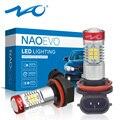 NAO H11 Светодиодный противотуманный светильник H8 HB4 HB3 H16 1400Lm 12 В H10 H16 9005 9006 автомобильный H9 2835 Чип Авто Белый DRL дневные ходовые огни